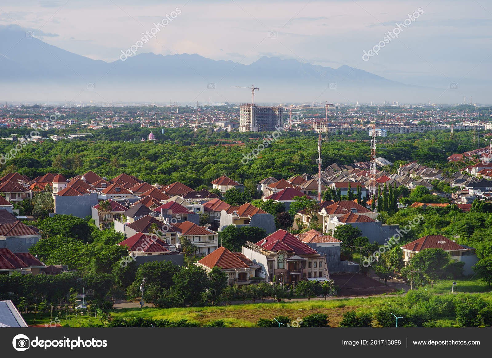 bird view city sun rise surabaya mount background indonesia stock photo c butoc 89 mail ru 201713098 https depositphotos com 201713098 stock photo bird view city sun rise html
