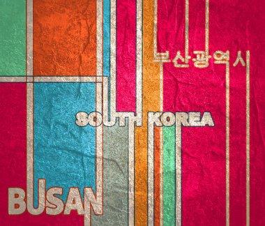 South Korea and Busan text