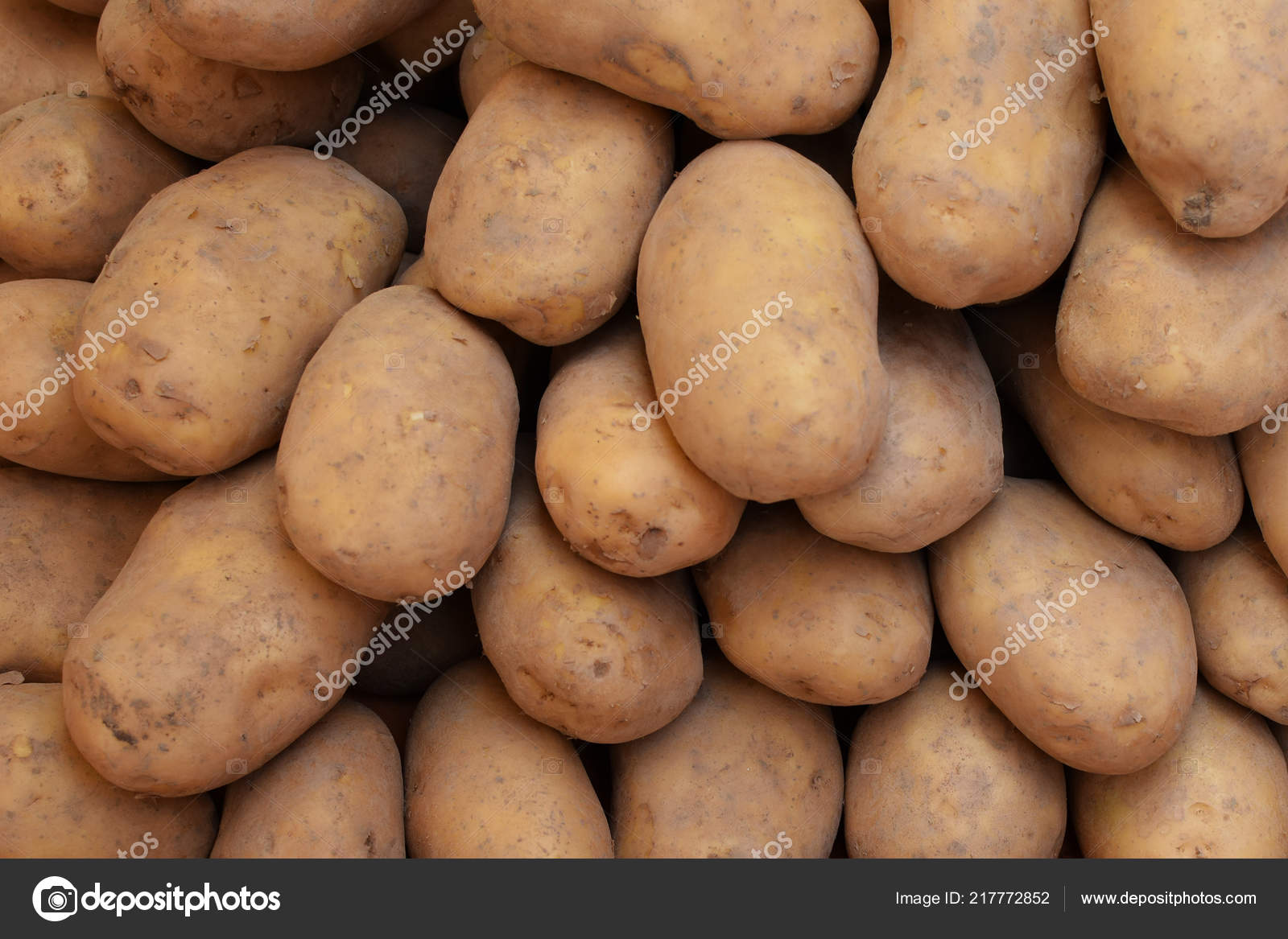 Pile Potatoes Skin Staple Food Background — Stock Photo