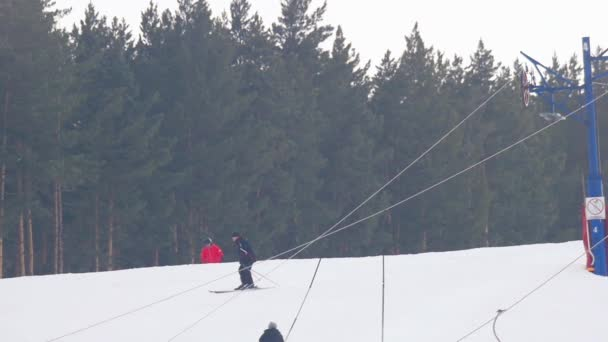 Tourists relax at the mountains ski resort