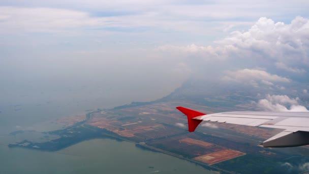 Letecký pohled na letiště Singapore Changi