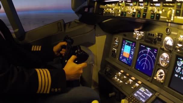 Polgári repülőgépek pilótafülke.