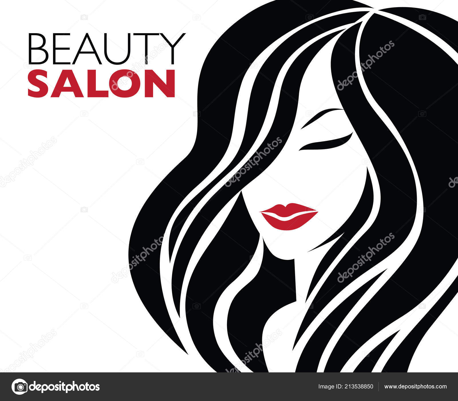 Illustration Woman Beautiful Hair Background Can Used
