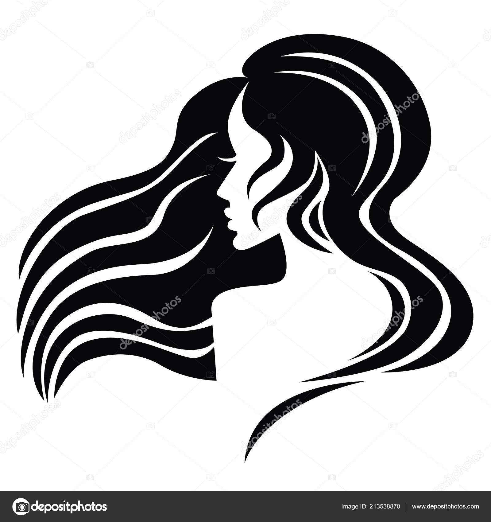 Illustration Woman Beautiful Hair Can Used Logo Beauty Salon Spa Stock Vector C Kynata 213538870