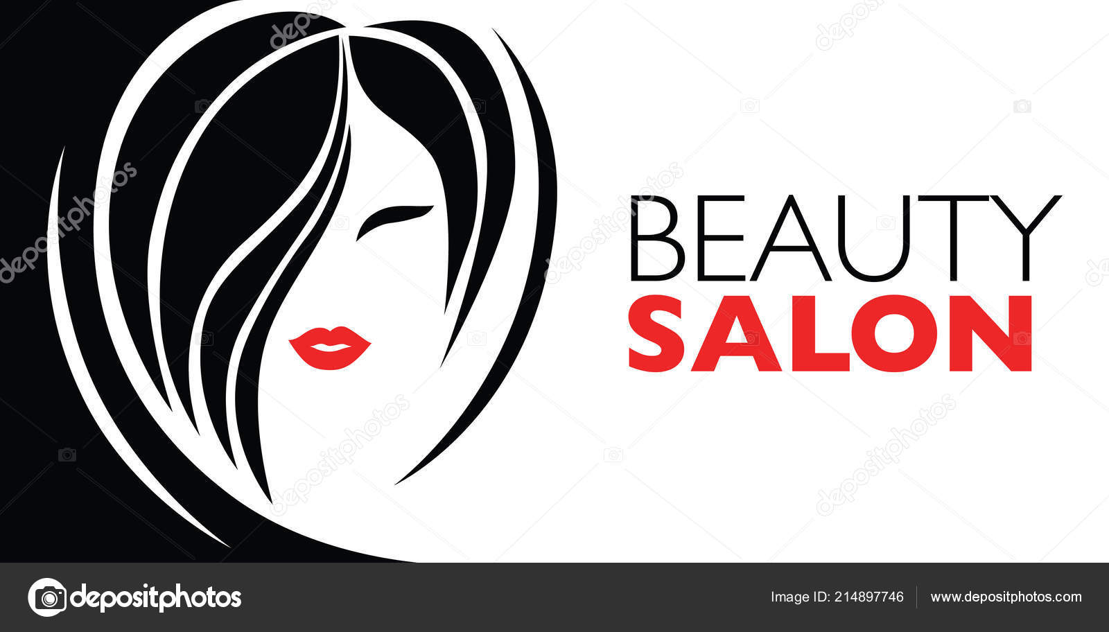 Illustration Woman Beautiful Hair Background Can Used Beauty Salon Stock Vector C Kynata 214897746