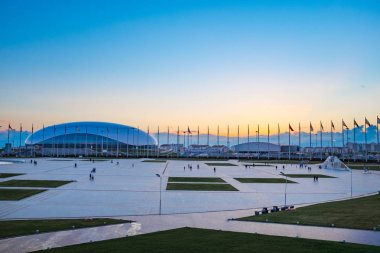 Sochi, Russia, Olimpic park in Sunset