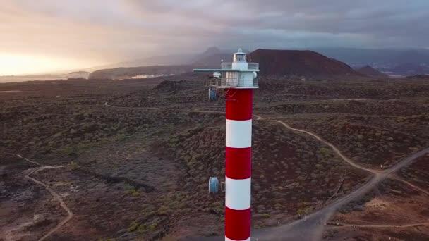 Blick vom Leuchtturm faro de rasca auf Teneriffa, Kanarische Inseln, Spanien. Wilde Küste des Atlantiks