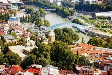 """Картина, постер, плакат, фотообои """"Вид сверху старого города Тбилиси"""", артикул 251020232"""