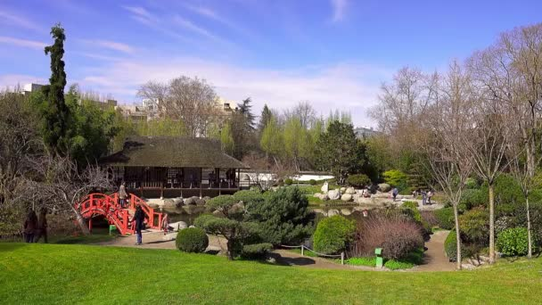 Toulouse, Francie - 12 březen 2108: Japonská zahrada. Zahrady Compans Caffarelli na Boulevard Lascrosses