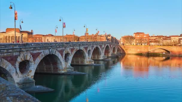 Timelapse Pont Neuf, French for New Bridge (Grand Pont) is a 16th-century bridge in Toulouse, in South of France.