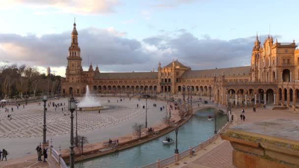 Spain Square is plaza in Maria Luisa Park, Seville, Andalusia, Spain, built in 1928 for Ibero-American Exposition. It is Renaissance and Moorish Revival styles of Spanish architecture.