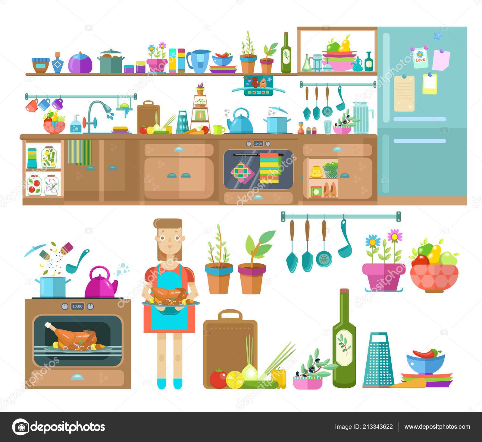 Disegni: oggetti cucina | Disegno Interno Della Cucina ...