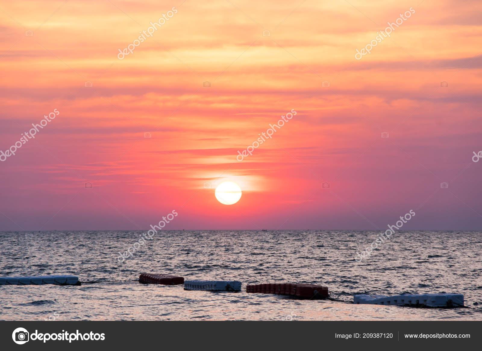 View Sunset Gulf Thailand Pattaya Resort Thailand Stock