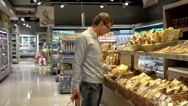 Young man in bakery