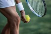 Sportruházat, labda közelről teniszező