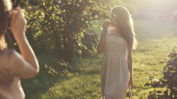 Beautiful woman in sunlight