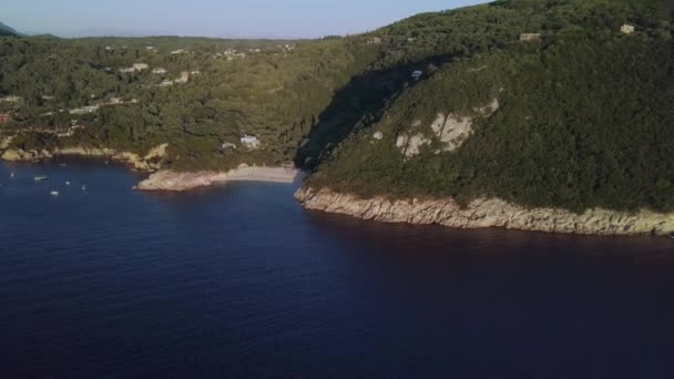 The coastline of Greek Corfu