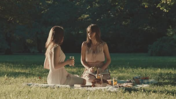 Young beautiful girls in the park