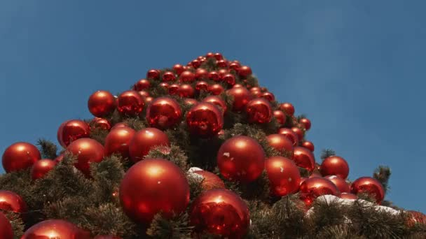 Christmas tree with red balls