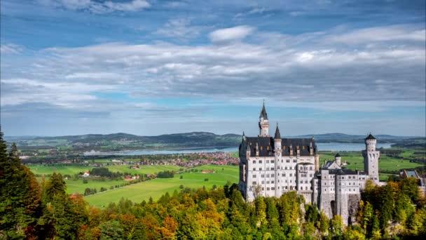 Zeitraffer des Schlosses Hohenschwangau in Deutschland