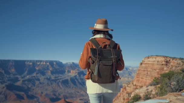 Attractive woman in the Grand Canyon