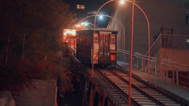 Famous funicular in Los Angeles at night