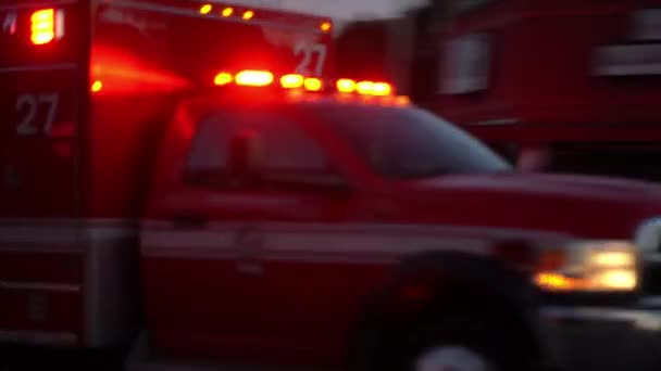 Fire truck driving at speed in the city