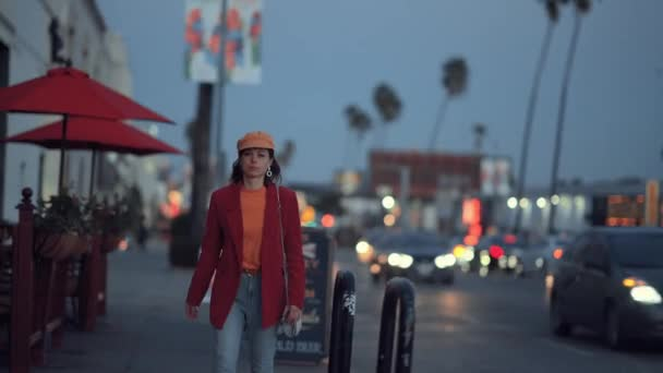 Young girl in Los Angeles in the evening