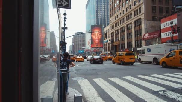 Manhattan közúti forgalom New Yorkban