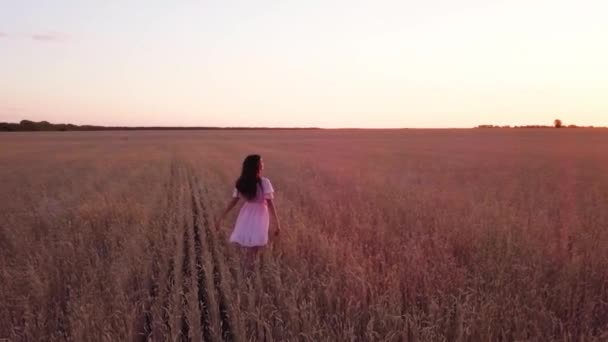 Young girl in wheat field (with flares version)