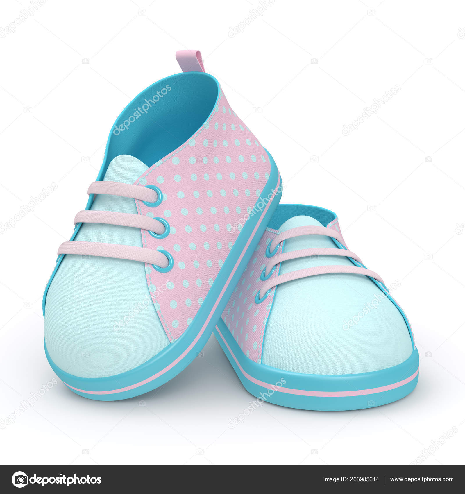 3d render of baby shoes over white — Stock Photo © ayo888