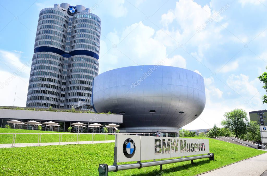 BMW Museum in Munich, Germany.