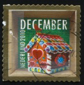 RUSSIA KALININGRAD, 4 JULY 2017: stamp printed by Netherlands shows merry christmas holiday, circa 2010