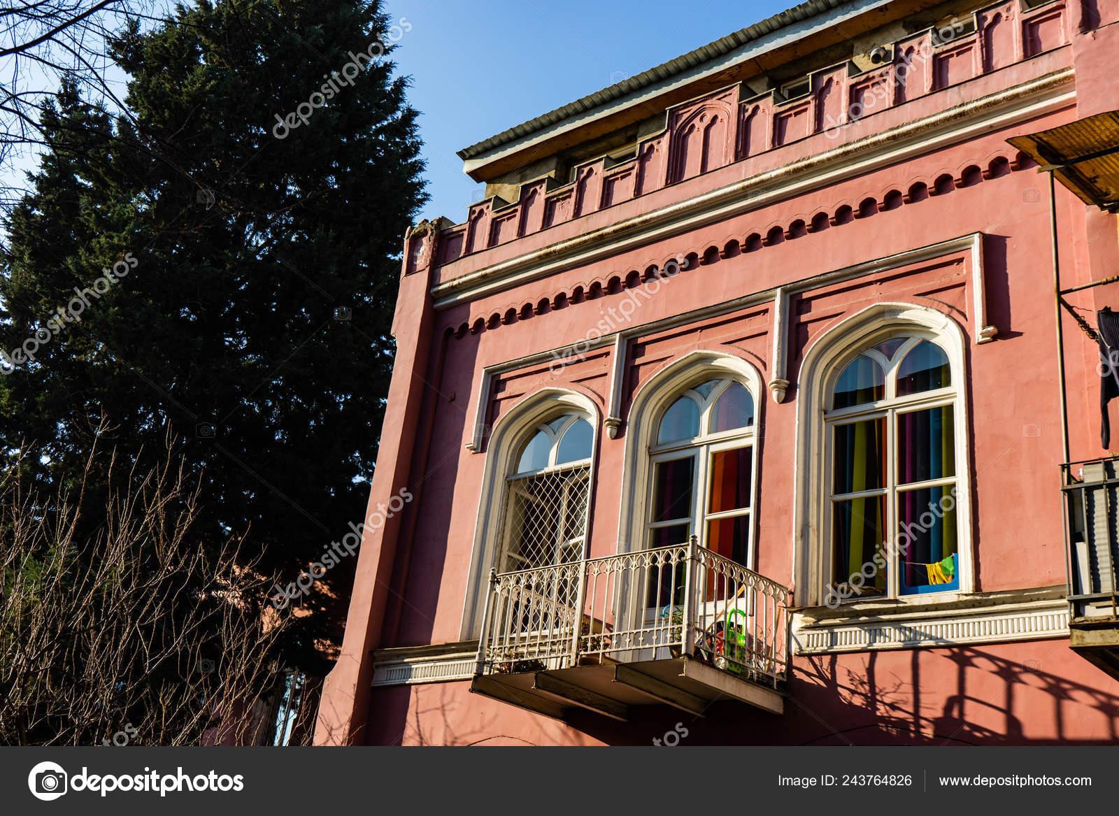 Exterior Detail Facades Sololaki Area Tbilisi Architecture