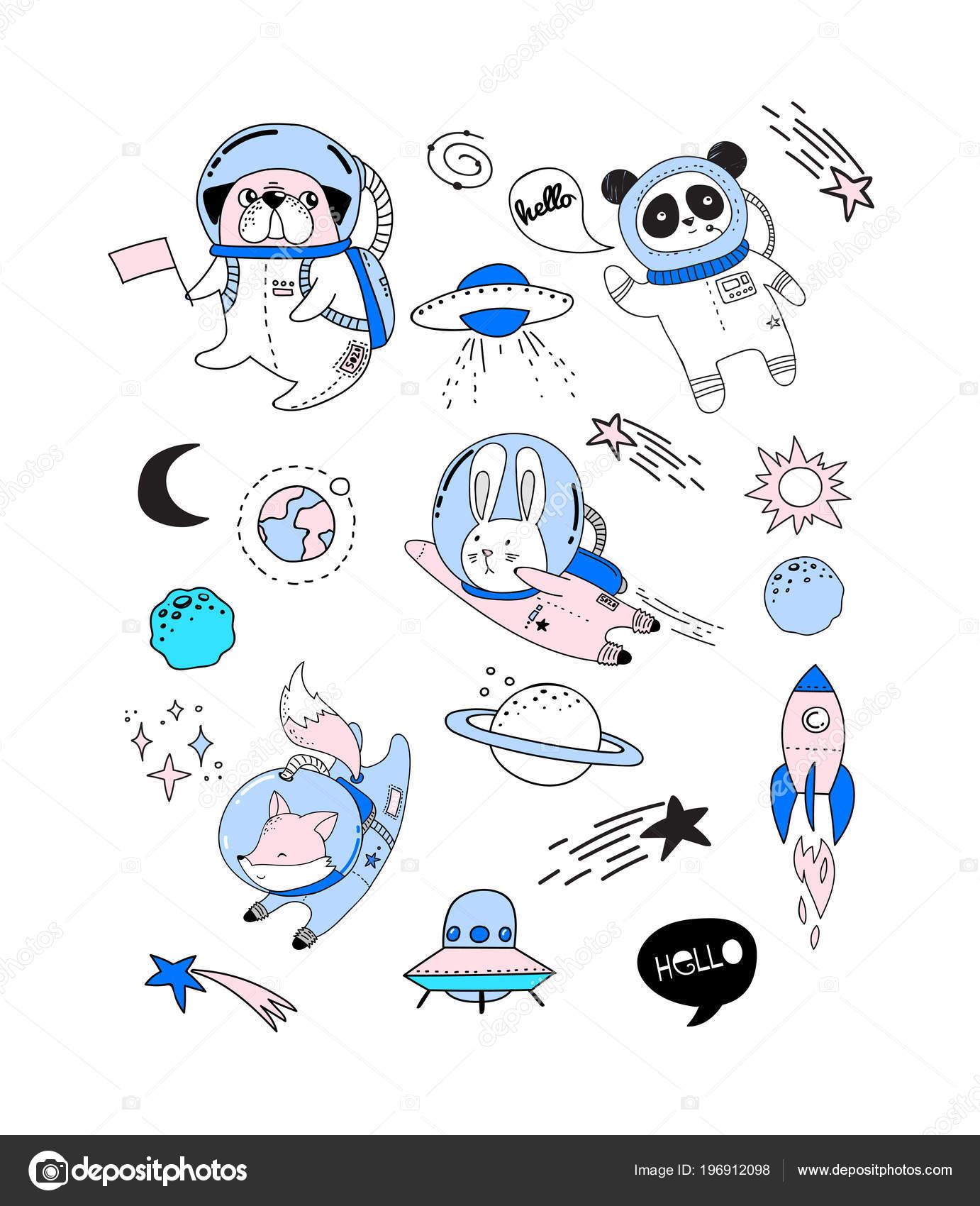 Illustrazione Del Concetto Di Spazio Esterno Gli Astronauti Di