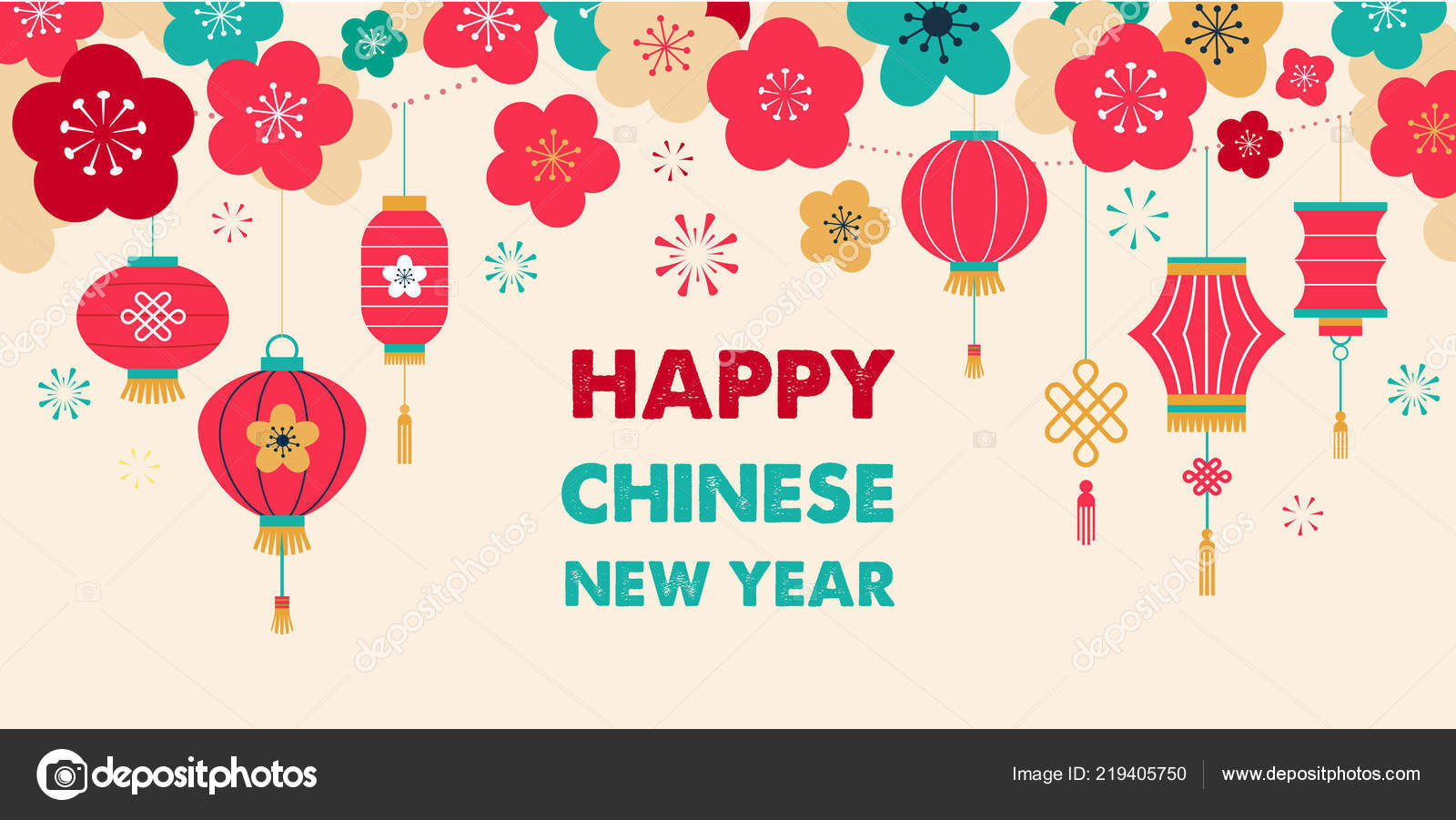 chinese new year background card print banner etmplate vector by marish