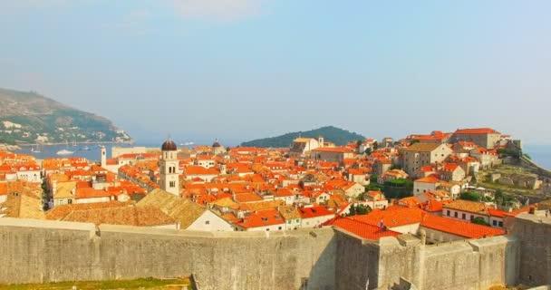 Panoramatické letecký pohled staré město Dubrovník