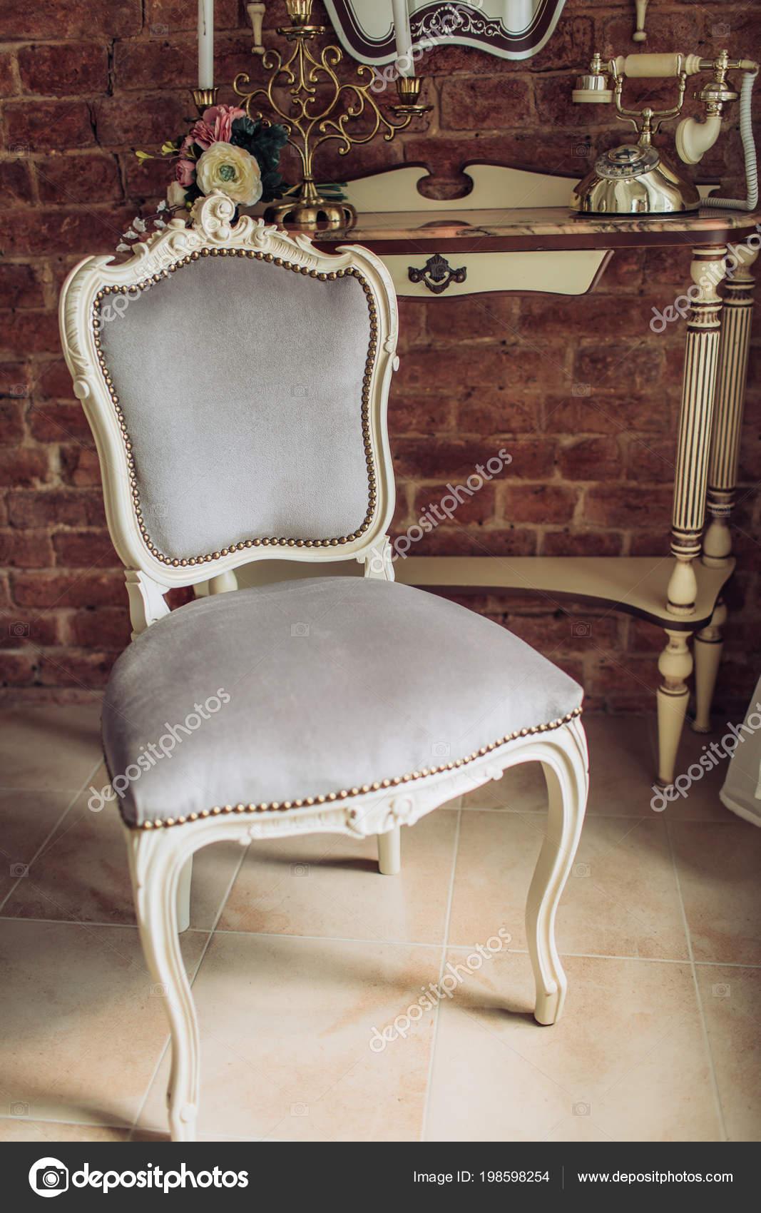 Klassischen Stil Sessel Vintage Zimmer Stockfoto Forewer 198598254