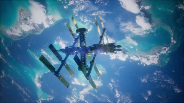 4k Flight Of The International Space Station Above the Earth.