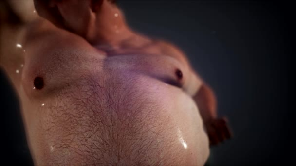 tlustý muž s velkým břichem. Dieta