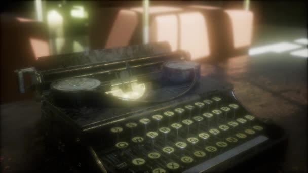 Retro psací stroj ve tmě