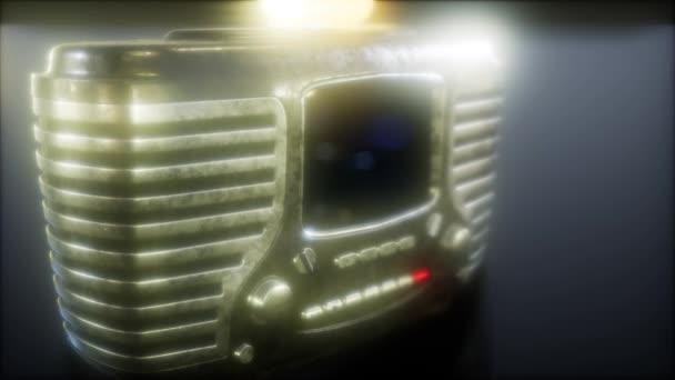 Régi vágású vintage retro rádió