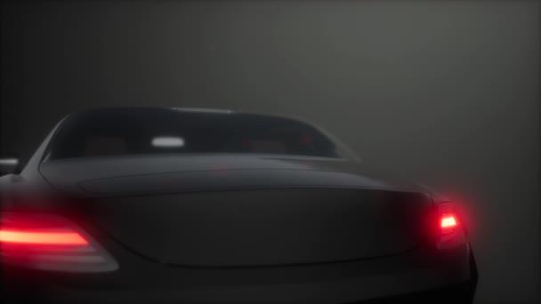 Luxusní sportovní auto v tmavých studio s jasnými světly