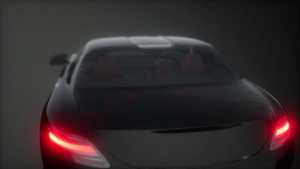 luxusní sportovní auto v tmavém studiu s jasnými světly
