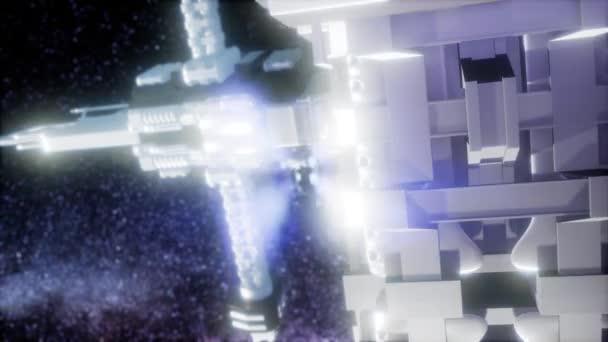 kosmická loď kosmická loď vnější galaxie vesmír