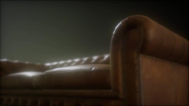 Sedia in pelle moderna nel soggiorno