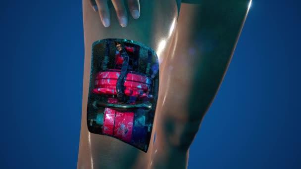 futurisztikus cyborg nő. humanoid robot koncepciója