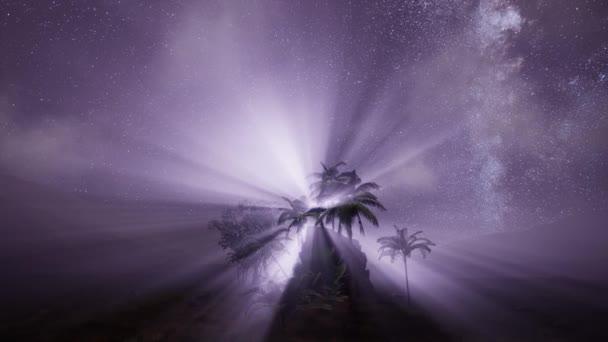 4 k Astro galaxie Mléčné dráhy nad tropický deštný prales