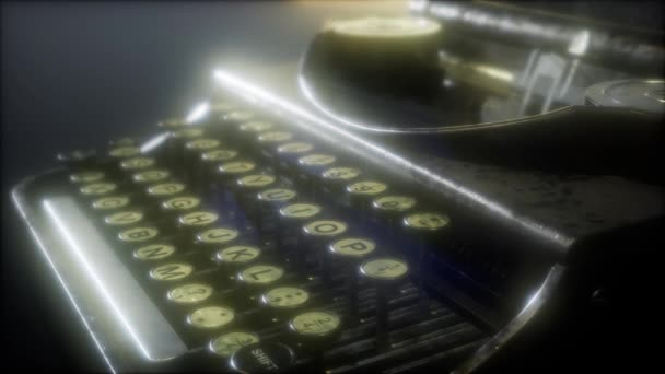Retro-Schreibmaschine im Dunkeln