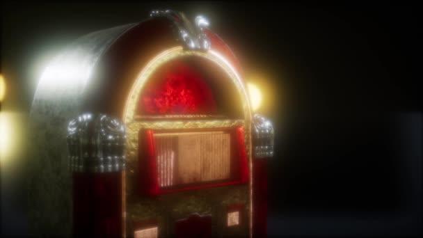 Retro jukebox ve tmě